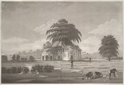 'Chamcutta mosque at Gour, so called from a tribe of Fakeers who wound themselves'. Aquatint, drawn and engraved by James Moffat, published Calcutta undated